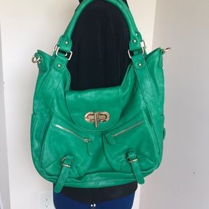 Handbags - Purse - NWOT Kelly green with gold tone details.